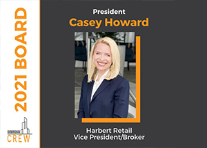 Harbert Retail VP Casey Howard Named 2021 Birmingham CREW President